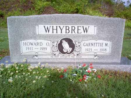 WHYBREW, GARNETTIE M - Jackson County, Arkansas | GARNETTIE M WHYBREW - Arkansas Gravestone Photos