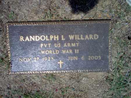 WILLARD (VETERAN WWII), RANDOLPH L - Jackson County, Arkansas   RANDOLPH L WILLARD (VETERAN WWII) - Arkansas Gravestone Photos