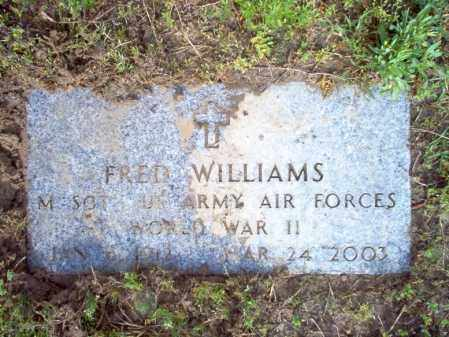 WILLIAMS (VETERAN WWII), FRED - Jackson County, Arkansas | FRED WILLIAMS (VETERAN WWII) - Arkansas Gravestone Photos