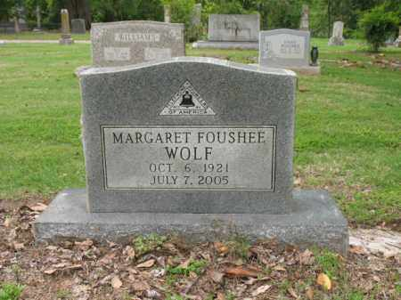 FOUSHEE WOLF, MARGARET - Jackson County, Arkansas   MARGARET FOUSHEE WOLF - Arkansas Gravestone Photos