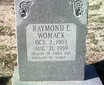 WOMACK, RAYMOND E - Jackson County, Arkansas | RAYMOND E WOMACK - Arkansas Gravestone Photos