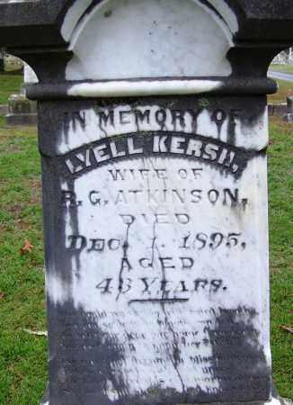 KERSH ATKINSON, LYELL - Jefferson County, Arkansas | LYELL KERSH ATKINSON - Arkansas Gravestone Photos