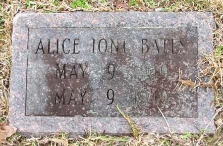 BATES, ALICE IONE - Jefferson County, Arkansas | ALICE IONE BATES - Arkansas Gravestone Photos
