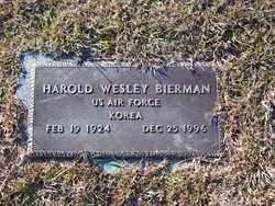 BIERMAN (VETERAN KOR), HAROLD WESLEY - Jefferson County, Arkansas | HAROLD WESLEY BIERMAN (VETERAN KOR) - Arkansas Gravestone Photos