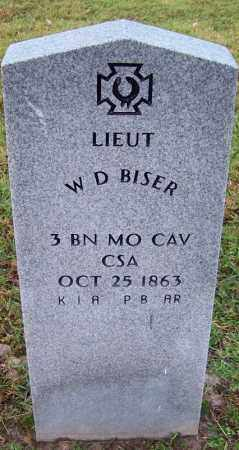 BISER (VETERAN CSA), W D - Jefferson County, Arkansas | W D BISER (VETERAN CSA) - Arkansas Gravestone Photos