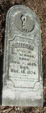 BOND, MAGGIE P. - Jefferson County, Arkansas | MAGGIE P. BOND - Arkansas Gravestone Photos