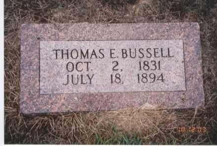 BUSSELL, THOMAS E. - Jefferson County, Arkansas | THOMAS E. BUSSELL - Arkansas Gravestone Photos