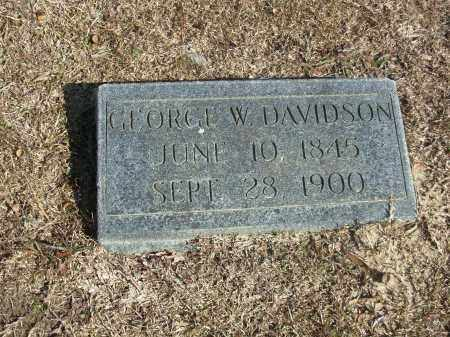 DAVIDSON, GEORGE W. - Jefferson County, Arkansas | GEORGE W. DAVIDSON - Arkansas Gravestone Photos
