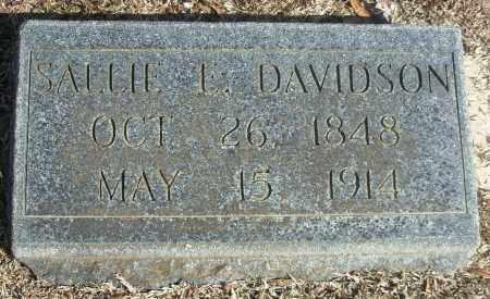 DAVIDSON, SALLIE L. - Jefferson County, Arkansas | SALLIE L. DAVIDSON - Arkansas Gravestone Photos
