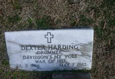 HARDING (VETERAN 1812), DEXTER - Jefferson County, Arkansas | DEXTER HARDING (VETERAN 1812) - Arkansas Gravestone Photos