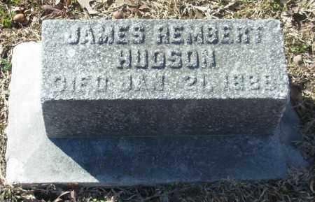 HUDSON, JAMES REMBERT - Jefferson County, Arkansas | JAMES REMBERT HUDSON - Arkansas Gravestone Photos