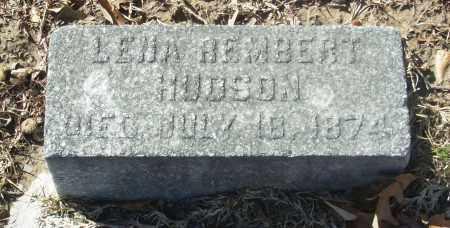 HUDSON, LENA REMBERT - Jefferson County, Arkansas   LENA REMBERT HUDSON - Arkansas Gravestone Photos