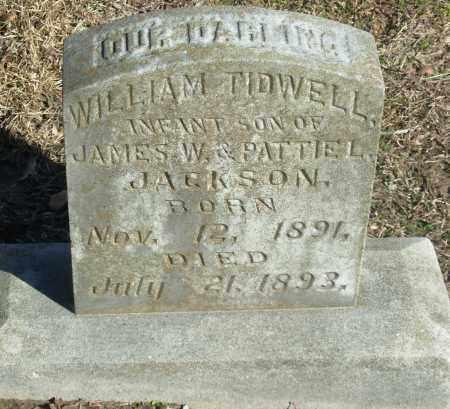 JACKSON, WILLIAM TIDWELL - Jefferson County, Arkansas   WILLIAM TIDWELL JACKSON - Arkansas Gravestone Photos