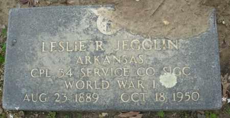 JEGGLIN (VETERAN WWI), LESLIE R - Jefferson County, Arkansas | LESLIE R JEGGLIN (VETERAN WWI) - Arkansas Gravestone Photos
