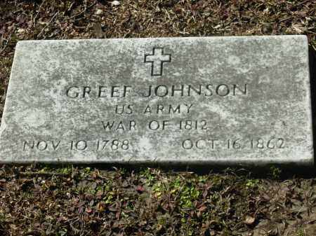JOHNSON (VETERAN 1812), GREEF - Jefferson County, Arkansas | GREEF JOHNSON (VETERAN 1812) - Arkansas Gravestone Photos