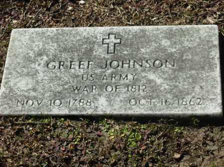 JOHNSON (VETERAN 1812), GREEF - Jefferson County, Arkansas   GREEF JOHNSON (VETERAN 1812) - Arkansas Gravestone Photos
