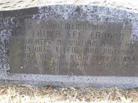 LANDON, LAURA - Jefferson County, Arkansas   LAURA LANDON - Arkansas Gravestone Photos