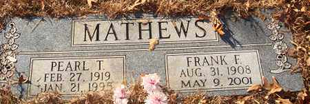 MATHEWS, FRANK F - Jefferson County, Arkansas | FRANK F MATHEWS - Arkansas Gravestone Photos