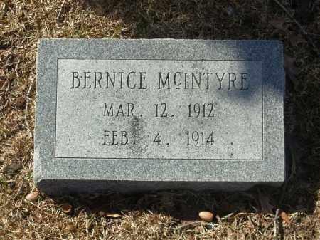 MCINTYRE, BERNICE - Jefferson County, Arkansas | BERNICE MCINTYRE - Arkansas Gravestone Photos