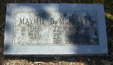 MCINTYRE, MAYMIE D. - Jefferson County, Arkansas | MAYMIE D. MCINTYRE - Arkansas Gravestone Photos