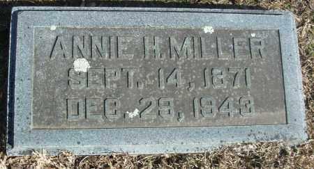 MILLER, ANNIE H - Jefferson County, Arkansas   ANNIE H MILLER - Arkansas Gravestone Photos