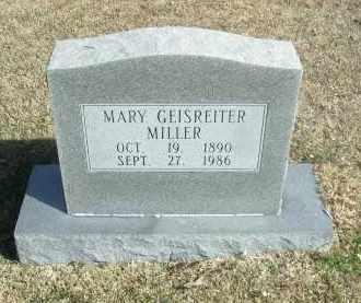 GEISREITER MILLER, MARY - Jefferson County, Arkansas   MARY GEISREITER MILLER - Arkansas Gravestone Photos