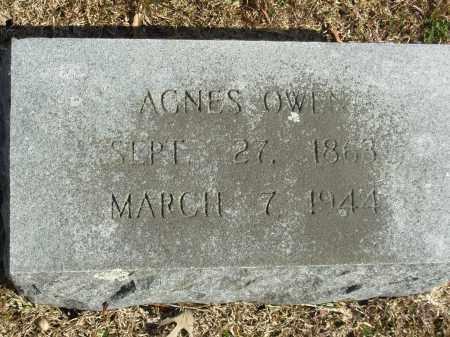 OWEN, AGNES - Jefferson County, Arkansas | AGNES OWEN - Arkansas Gravestone Photos