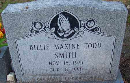 TODD SMITH, BILLIE MAXINE - Jefferson County, Arkansas | BILLIE MAXINE TODD SMITH - Arkansas Gravestone Photos