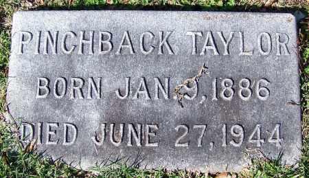 TAYLOR, PINCHBACK - Jefferson County, Arkansas   PINCHBACK TAYLOR - Arkansas Gravestone Photos