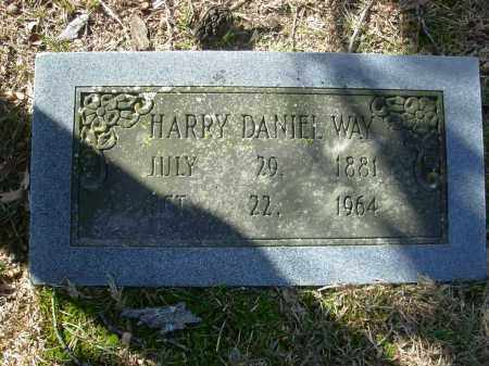 WAY, HARRY DANIEL - Jefferson County, Arkansas | HARRY DANIEL WAY - Arkansas Gravestone Photos