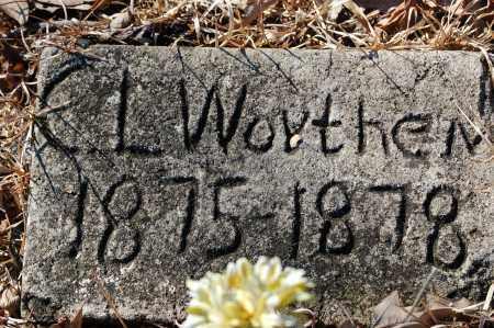 WORTHEN, C. L. - Jefferson County, Arkansas | C. L. WORTHEN - Arkansas Gravestone Photos