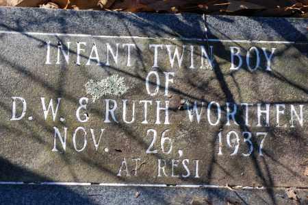 WORTHEN, INFANT TWIN SON - Jefferson County, Arkansas   INFANT TWIN SON WORTHEN - Arkansas Gravestone Photos