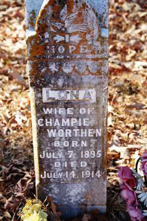 WORTHEN, LONA - Jefferson County, Arkansas   LONA WORTHEN - Arkansas Gravestone Photos