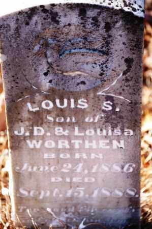 WORTHEN, LOUIS S. - Jefferson County, Arkansas   LOUIS S. WORTHEN - Arkansas Gravestone Photos