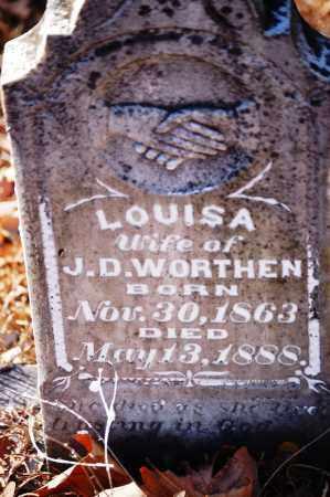 WORTHEN, LOUISA - Jefferson County, Arkansas | LOUISA WORTHEN - Arkansas Gravestone Photos