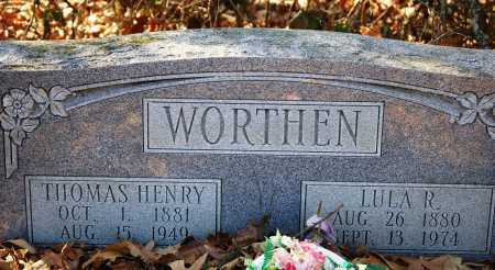 WORTHEN, LULA R - Jefferson County, Arkansas | LULA R WORTHEN - Arkansas Gravestone Photos
