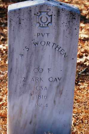 WORTHEN (VETERAN CSA), A SIDNEY - Jefferson County, Arkansas | A SIDNEY WORTHEN (VETERAN CSA) - Arkansas Gravestone Photos