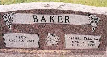 BAKER, RACHEL - Johnson County, Arkansas | RACHEL BAKER - Arkansas Gravestone Photos