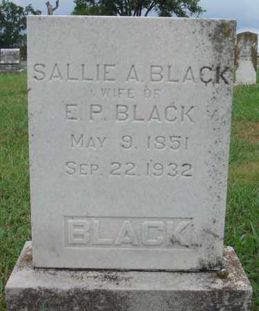 BLACK, SALLIE A. - Johnson County, Arkansas | SALLIE A. BLACK - Arkansas Gravestone Photos