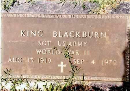 BLACKBURN (VETERAN WWII), KING - Johnson County, Arkansas | KING BLACKBURN (VETERAN WWII) - Arkansas Gravestone Photos