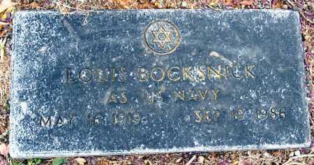 BOCKSNICK  (VETERAN), LOUIS - Johnson County, Arkansas   LOUIS BOCKSNICK  (VETERAN) - Arkansas Gravestone Photos