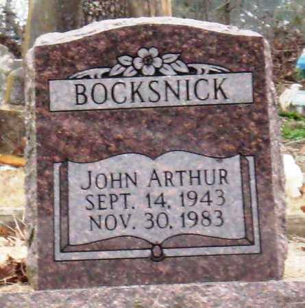 BOCKSNICK, JOHN ARTHUR - Johnson County, Arkansas   JOHN ARTHUR BOCKSNICK - Arkansas Gravestone Photos