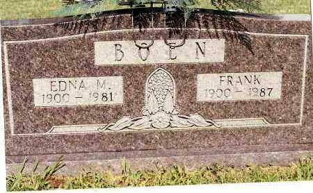 BOEN, EDNA M - Johnson County, Arkansas | EDNA M BOEN - Arkansas Gravestone Photos