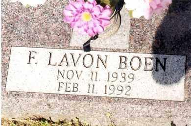BOEN, F  LAVON - Johnson County, Arkansas | F  LAVON BOEN - Arkansas Gravestone Photos