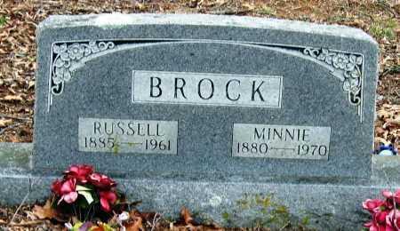 BROCK, MINNIE - Johnson County, Arkansas | MINNIE BROCK - Arkansas Gravestone Photos