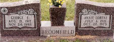 BROOMFIELD, ANNIE LORENE - Johnson County, Arkansas | ANNIE LORENE BROOMFIELD - Arkansas Gravestone Photos