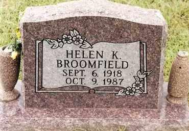 BROOMFIELD, HELEN K - Johnson County, Arkansas | HELEN K BROOMFIELD - Arkansas Gravestone Photos