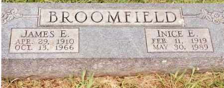 BROOMFIELD, JAMES E - Johnson County, Arkansas | JAMES E BROOMFIELD - Arkansas Gravestone Photos