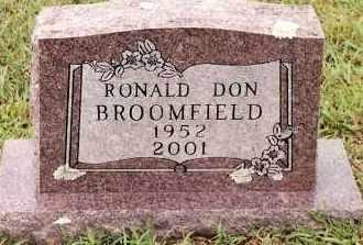 BROOMFIELD, RONALD DON - Johnson County, Arkansas | RONALD DON BROOMFIELD - Arkansas Gravestone Photos