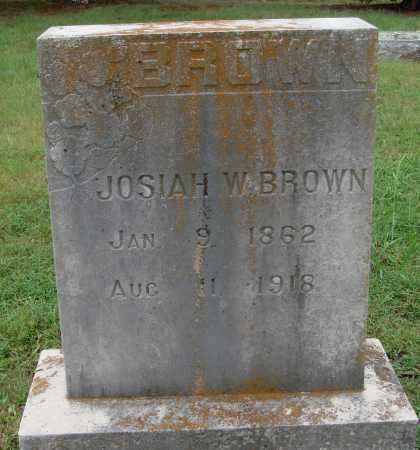 BROWN, JOSIAH W. - Johnson County, Arkansas | JOSIAH W. BROWN - Arkansas Gravestone Photos